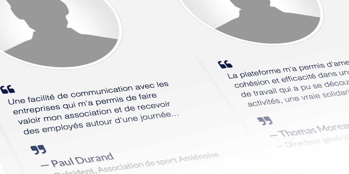 Exemples de témoignages - Picardie Sport Entreprise